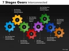 PowerPoint Process Chart Gears Company