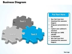 PowerPoint Process Chart Interconnected Puzzle Pieces Business Ppt Presentation