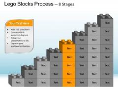 PowerPoint Process Chart Lego Blocks Ppt Design