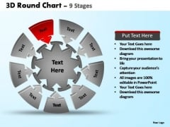 PowerPoint Process Chart Pie Chart With Arrows Ppt Design Slides