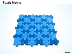 PowerPoint Process Chart Pieces 6x7 Rectangular Jigsaw Puzzle Matrix Ppt Design