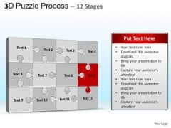 PowerPoint Process Chart Puzzle Process Ppt Slide