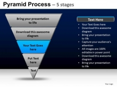 PowerPoint Process Chart Pyramid Process Ppt Layout