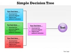 PowerPoint Process Chart Simple Decision Tree Ppt Template