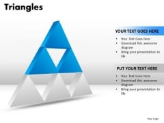 PowerPoint Process Chart Triangles Ppt Themes