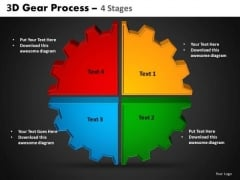 PowerPoint Process Circle Chart Gear Process Ppt Slides