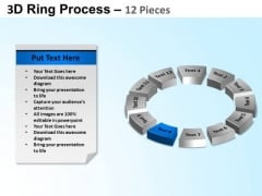 PowerPoint Process Circle Chart Ring Process Ppt Slides