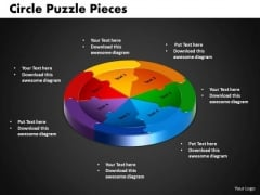 PowerPoint Process Circle Puzzle Business Ppt Themes
