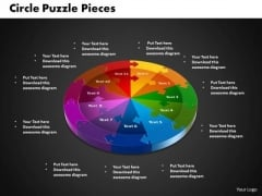 PowerPoint Process Circle Puzzle Leadership Ppt Template