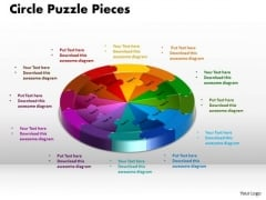 PowerPoint Process Circle Puzzle Pieces Success Ppt Template