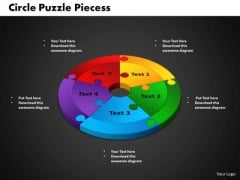 PowerPoint Process Circle Puzzle Success Ppt Presentation