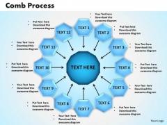 PowerPoint Process Comb Process Business Ppt Slides