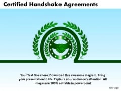 PowerPoint Process Company Certified Handshake Ppt Process