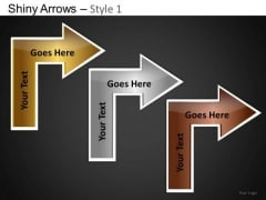 PowerPoint Process Company Designs Shiny Arrows Ppt Slide Designs