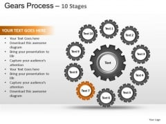 PowerPoint Process Company Gears Process Ppt Backgrounds