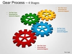PowerPoint Process Company Gears Process Ppt Slides