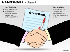 PowerPoint Process Company Handshake Ppt Backgrounds
