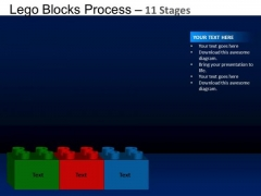 PowerPoint Process Company Lego Blocks Ppt Backgrounds
