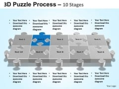 PowerPoint Process Company Puzzle Process Ppt Backgrounds