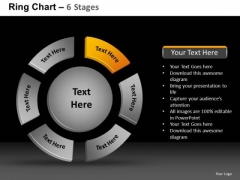 PowerPoint Process Company Ring Chart Ppt Design Slides