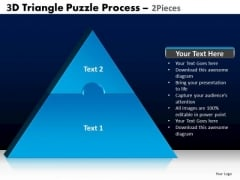 PowerPoint Process Company Triangle Puzzle Ppt Layouts