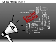 PowerPoint Process Corporate Designs Social Media Ppt Backgrounds