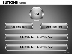 PowerPoint Process Corporate Strategy Buttons Icons Ppt Backgrounds