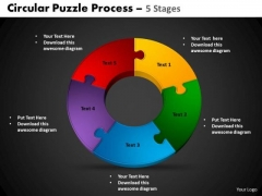 PowerPoint Process Cycle Process Circular Puzzle Ppt Design Slides