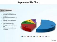 PowerPoint Process Data Driven Segmented Piechart Ppt Design Slides