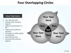 PowerPoint Process Diagram Four Overlapping Ppt Presentation