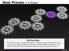 PowerPoint Process Diagram Gears Process Ppt Backgrounds
