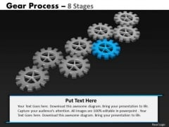 PowerPoint Process Diagram Gears Process Ppt Theme