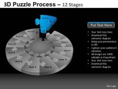 PowerPoint Process Diagram Pie Chart Puzzle Process Ppt Slide