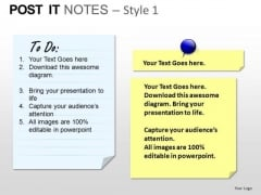 PowerPoint Process Diagram Post It Notes Ppt Presentation
