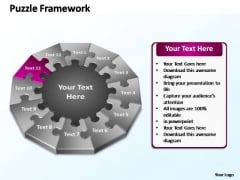 PowerPoint Process Diagram Puzzle Framework Ppt Template