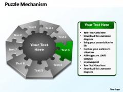 PowerPoint Process Diagram Puzzle Mechanism Ppt Template