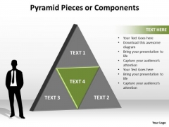 PowerPoint Process Diagram Pyramid Pieces Ppt Slide