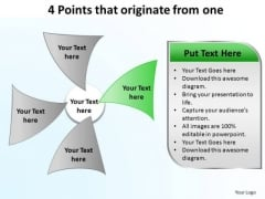 PowerPoint Process Download Points That Originate Ppt Slides