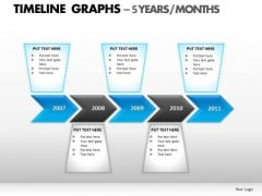 PowerPoint Process Download Timeline Graphs Ppt Template