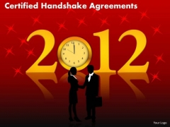 PowerPoint Process Editable Certified Handshake Ppt Slide