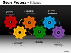 PowerPoint Process Editable Gears Process Ppt Backgrounds