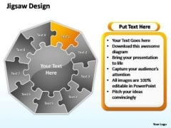 PowerPoint Process Editable Jigsaw Format Ppt Slide