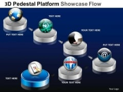 PowerPoint Process Editable Pedestal Platform Showcase Ppt Design Slides