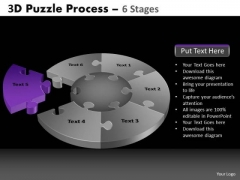 PowerPoint Process Editable Pie Chart Puzzle Process Ppt Layouts