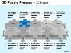 PowerPoint Process Editable Puzzle Process Ppt Backgrounds