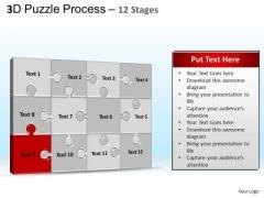 PowerPoint Process Editable Puzzle Process Ppt Theme