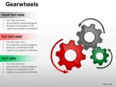 PowerPoint Process Education Gear Wheel Ppt Layouts