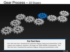 PowerPoint Process Education Gears Process Ppt Template
