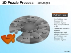 PowerPoint Process Education Puzzle Segment Pie Chart Ppt Themes