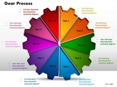 PowerPoint Process Gear Process Strategy Ppt Design